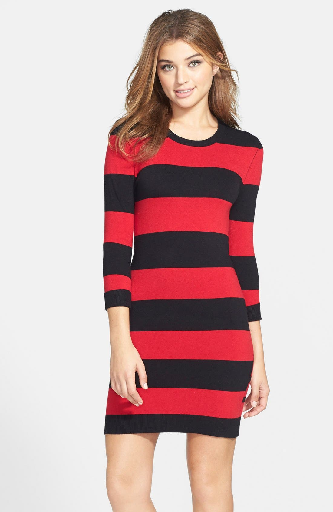 Alternate Image 1  - French Connection Stripe Sweater Dress