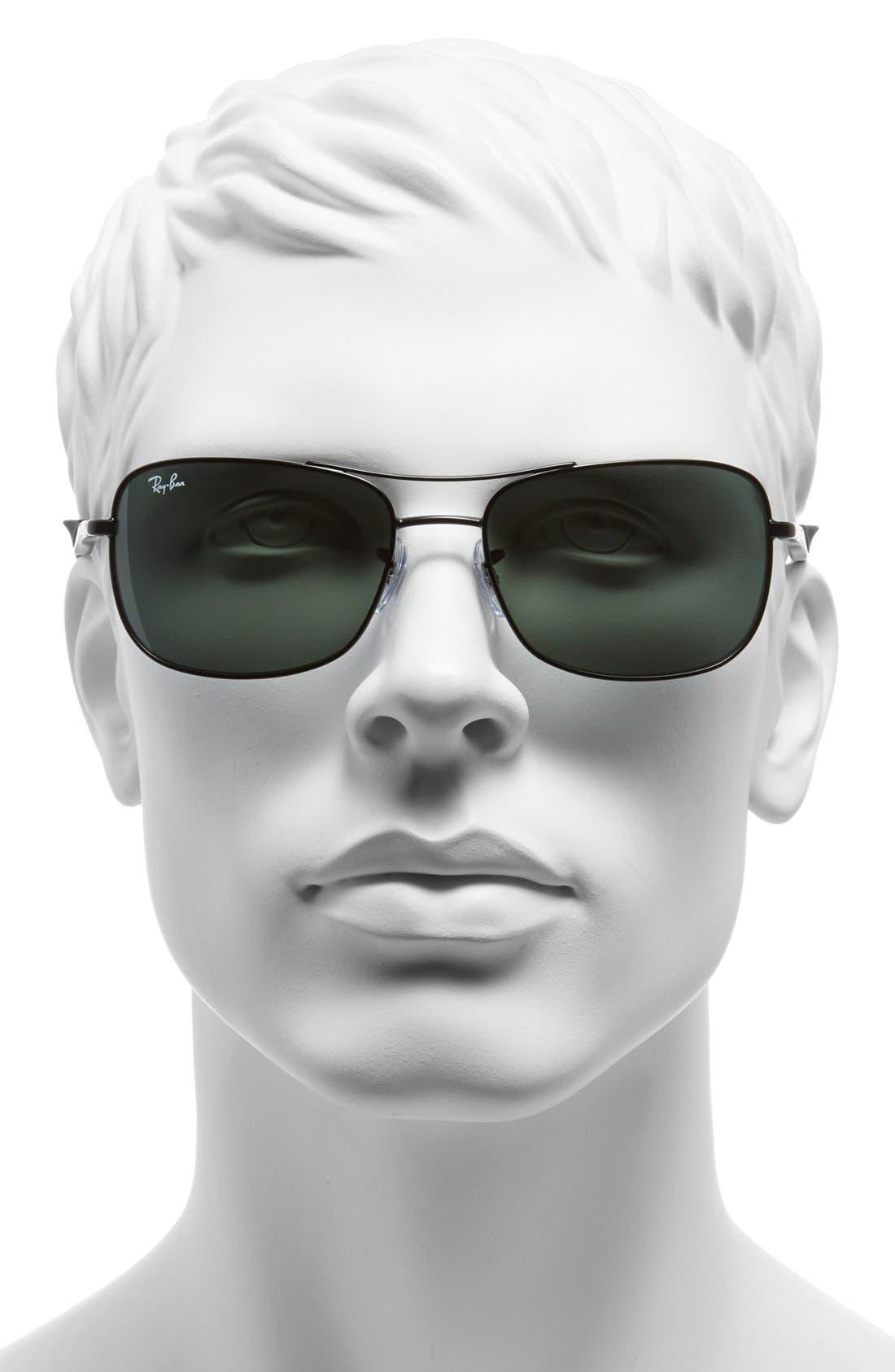 Alternate Image 2  - Ray-Ban 58mm Steel Aviator Sunglasses