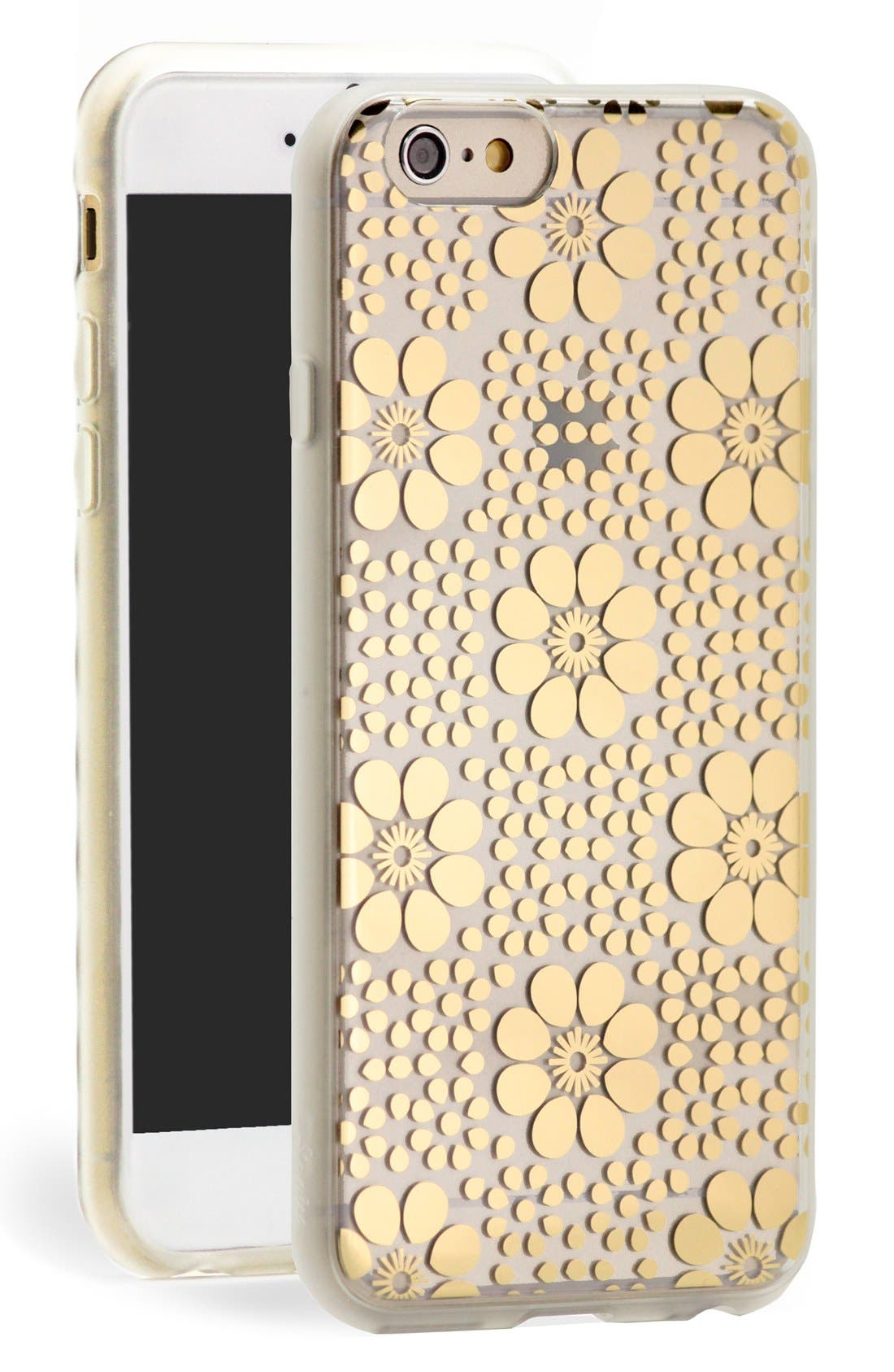 Alternate Image 1 Selected - Sonix 'Crochet Floral' Clear iPhone 6 Plus Case