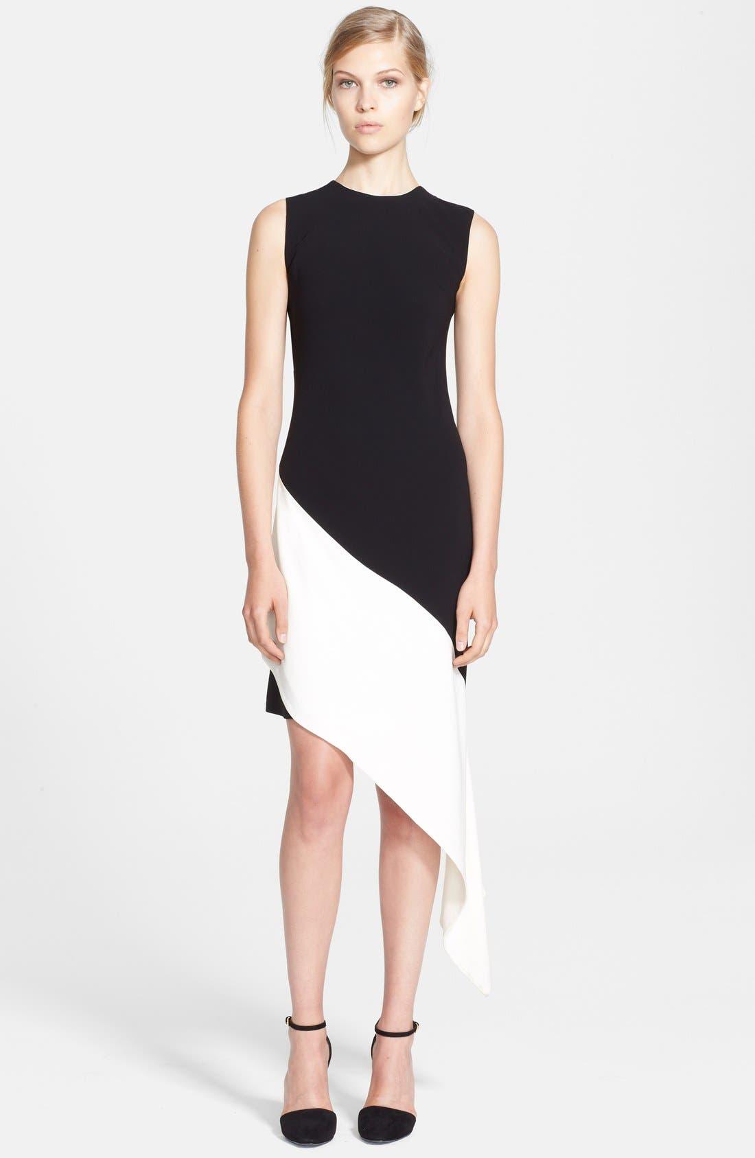 Main Image - Marni Bicolor Asymmetrical Satin Back Crepe Dress