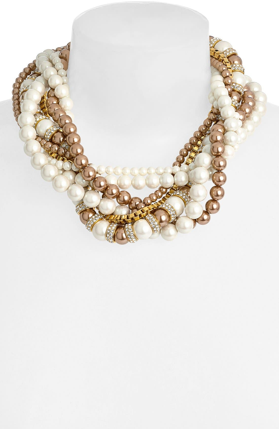 Alternate Image 2  - kate spade new york 'parlour pearl' twisted statement necklace