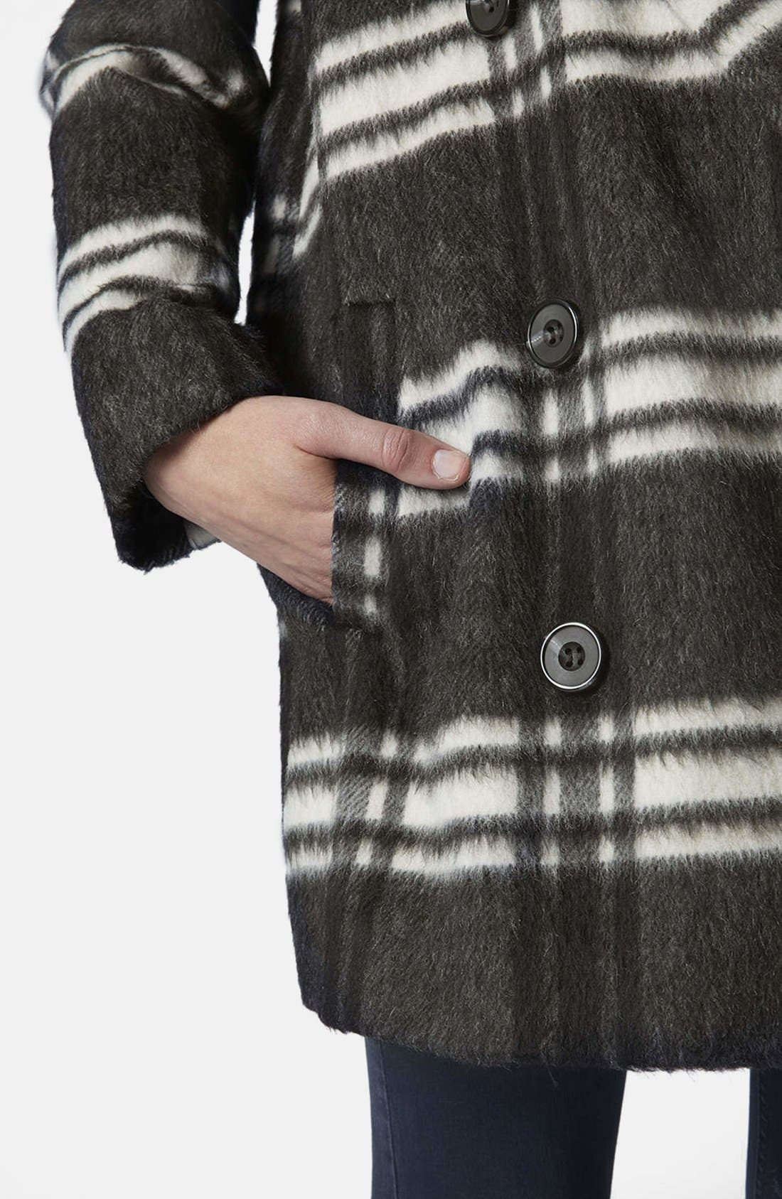 Alternate Image 4  - Topshop Double Breasted Pea Coat