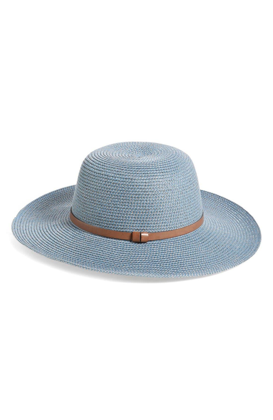 Main Image - Nordstrom Straw Floppy Hat