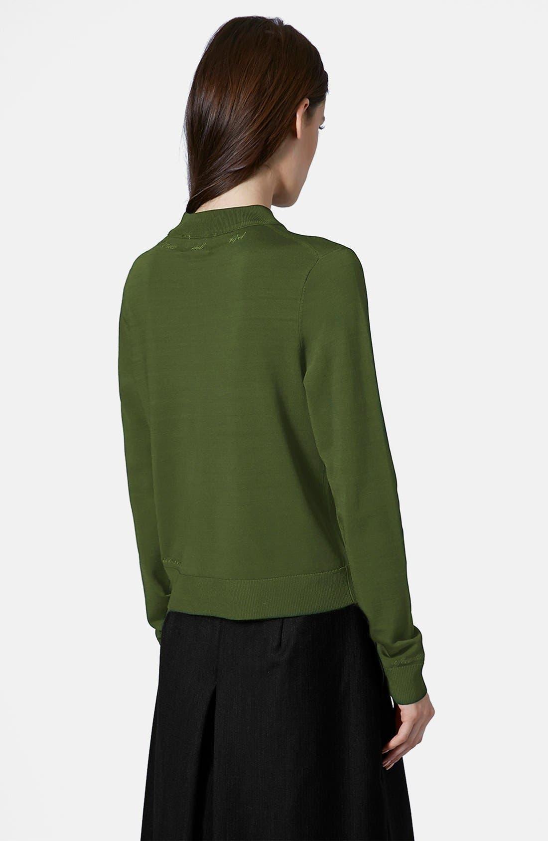 Alternate Image 2  - Topshop Unique Long Sleeve V-Neck Sweater