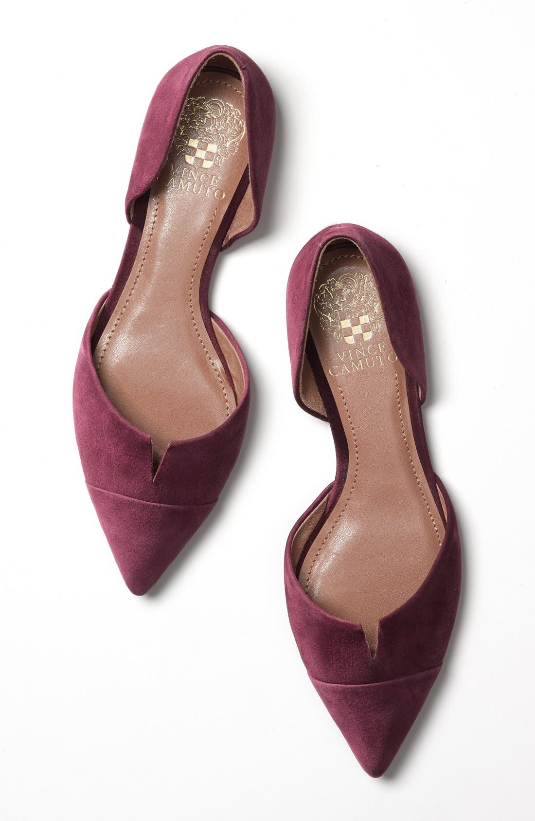 Alternate Image 6  - Vince Camuto 'Halia' d'Orsay Pointy Toe Flat (Women)