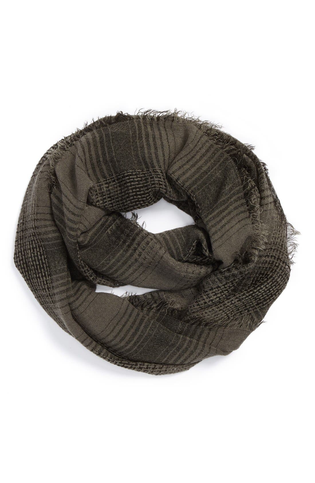 Alternate Image 1 Selected - BP. Plaid Infinity Scarf (Juniors)