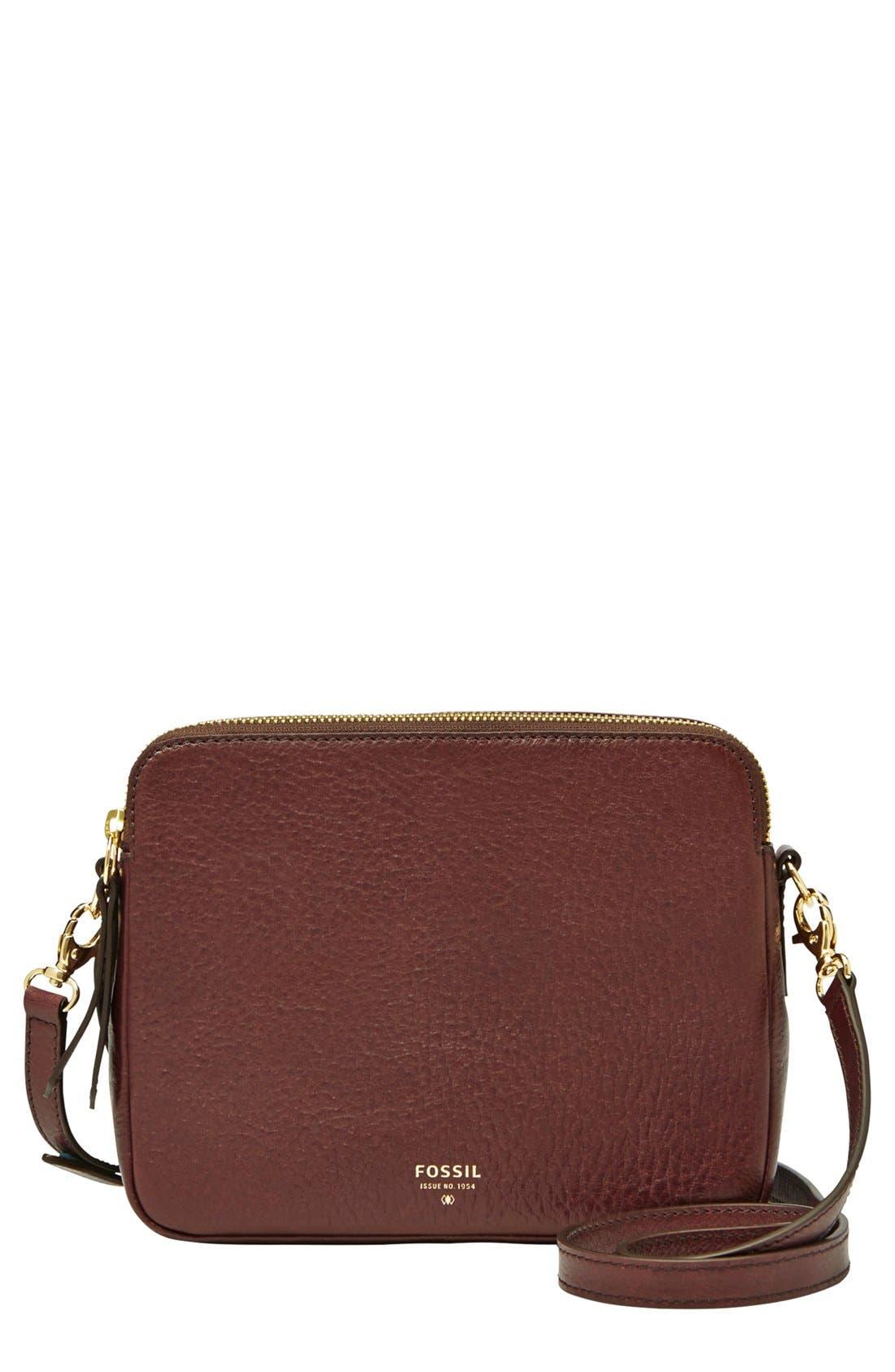 Main Image - Fossil 'Sydney' Leather Crossbody Bag