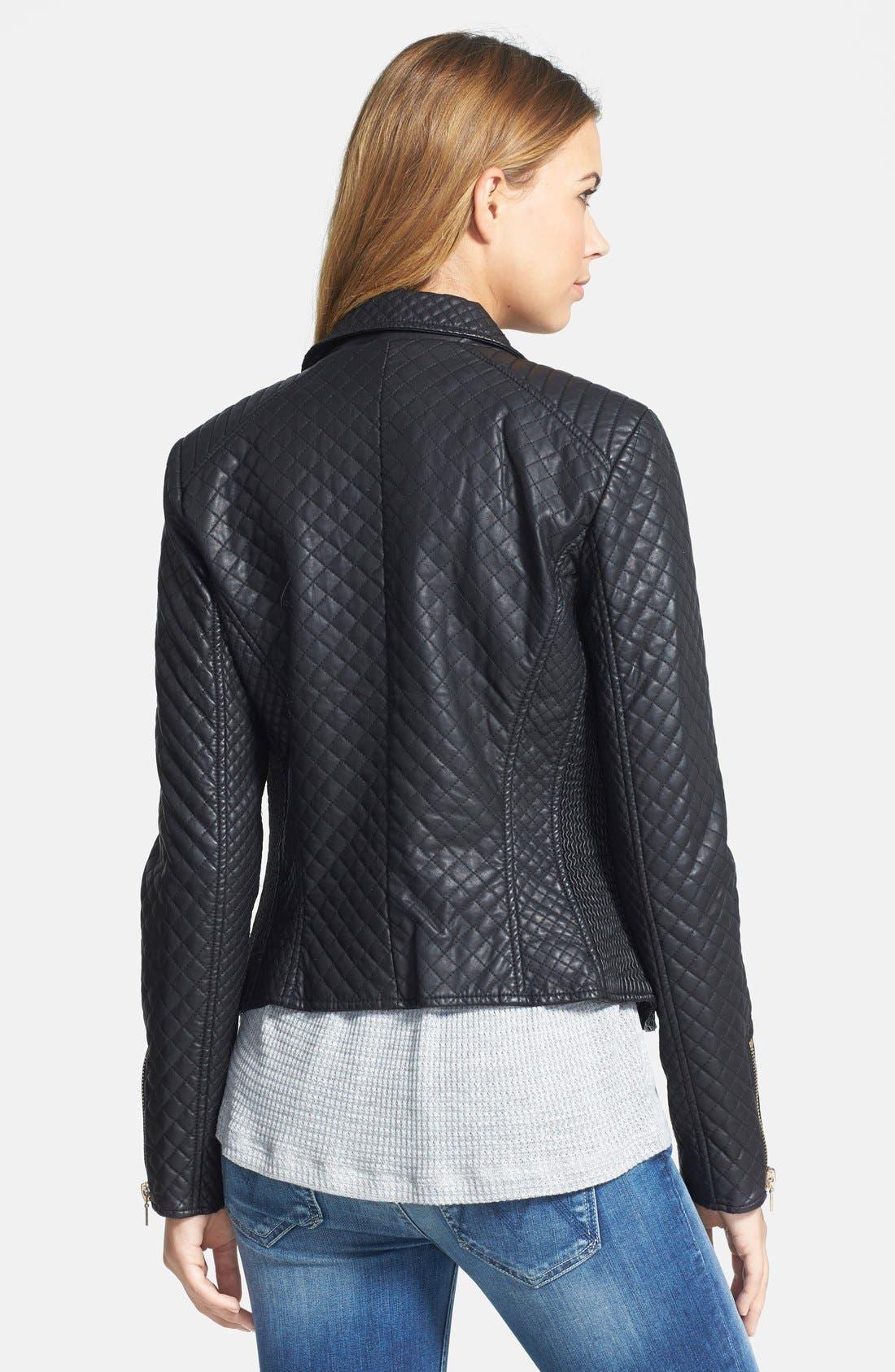 Alternate Image 2  - STELLA + LORENZO Faux Leather Jacket