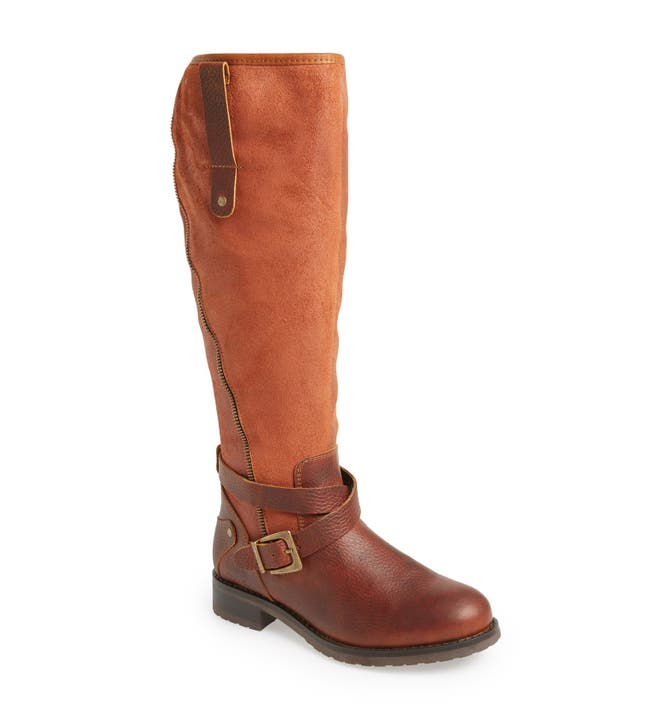 Bos. & Co. 'Sparks' Waterproof Suede & Leather Riding Boot (Women ...