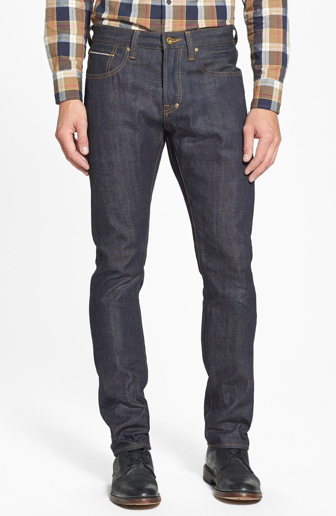 PRPS 'Demon' Slim Straight Leg Selvedge Jeans (Raw)