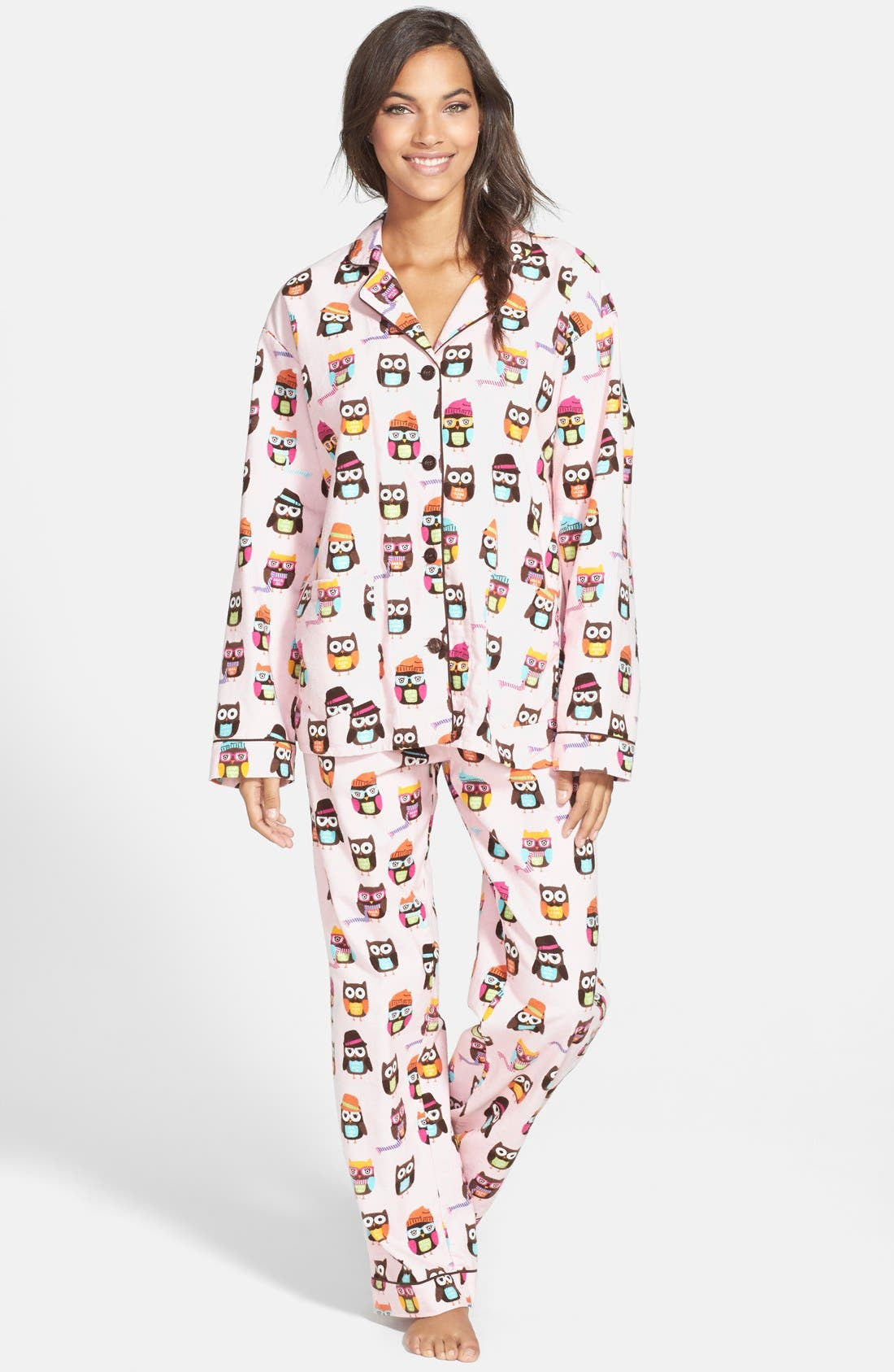 Alternate Image 1 Selected - PJ Salvage Print Flannel Pajamas