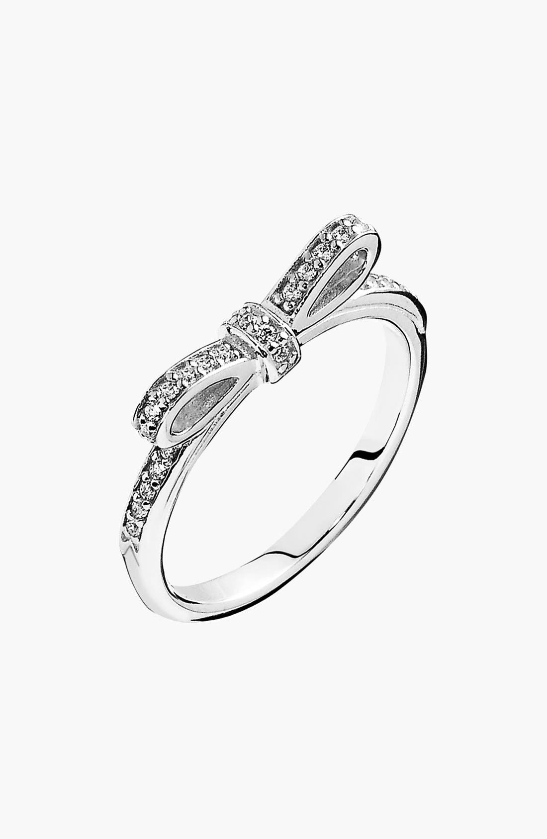 Alternate Image 1 Selected - PANDORA 'Sparkling Bow' Ring