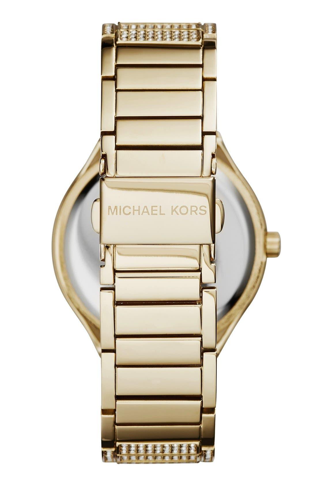 Alternate Image 2  - Michael Kors 'Kerry' Pavé Round Bracelet Watch, 38mm