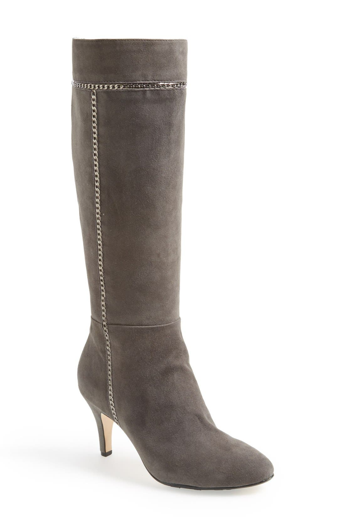 Alternate Image 1 Selected - Taryn Rose 'Treyes' Tall Suede Boot (Women)