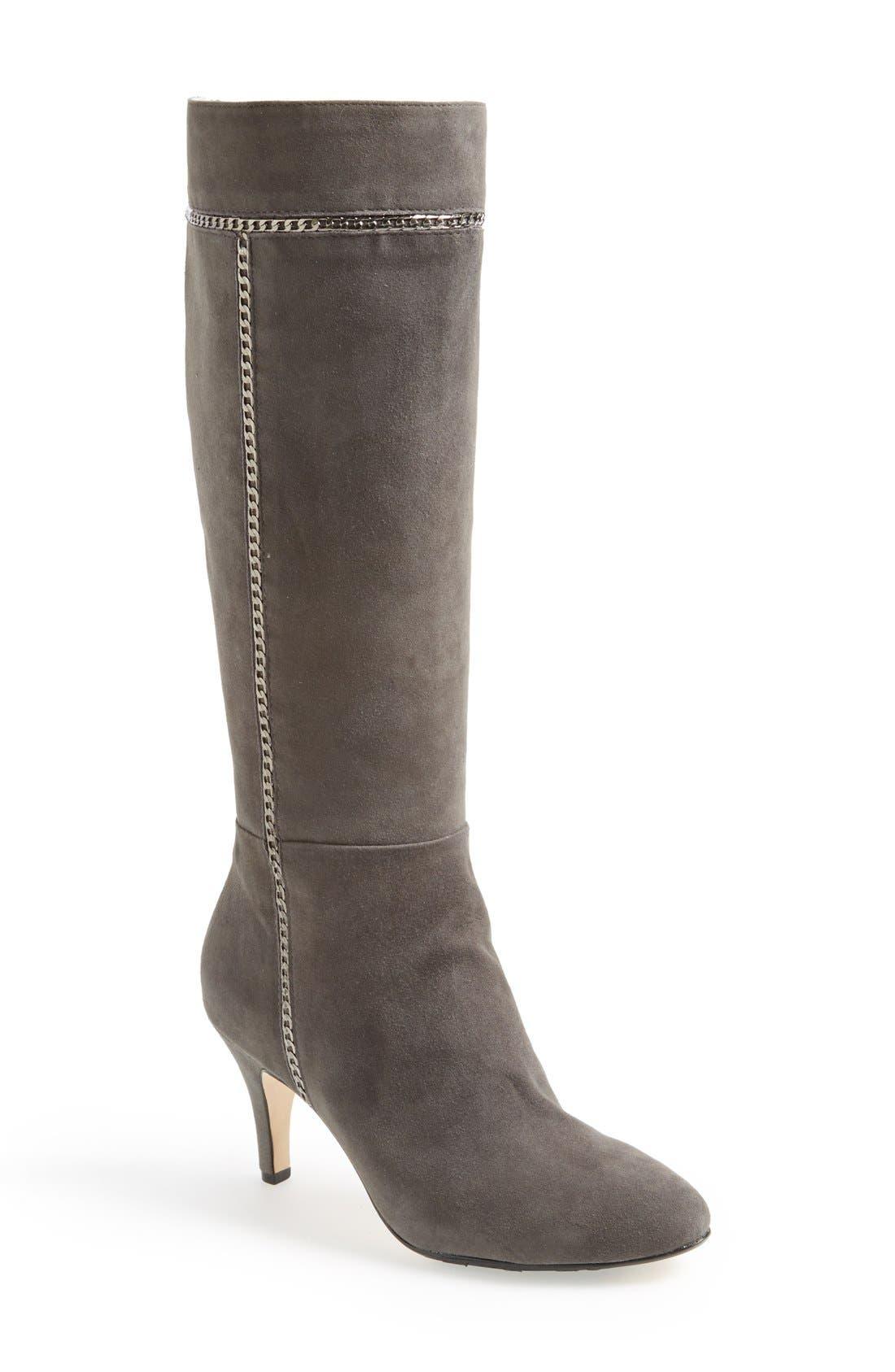 Main Image - Taryn Rose 'Treyes' Tall Suede Boot (Women)