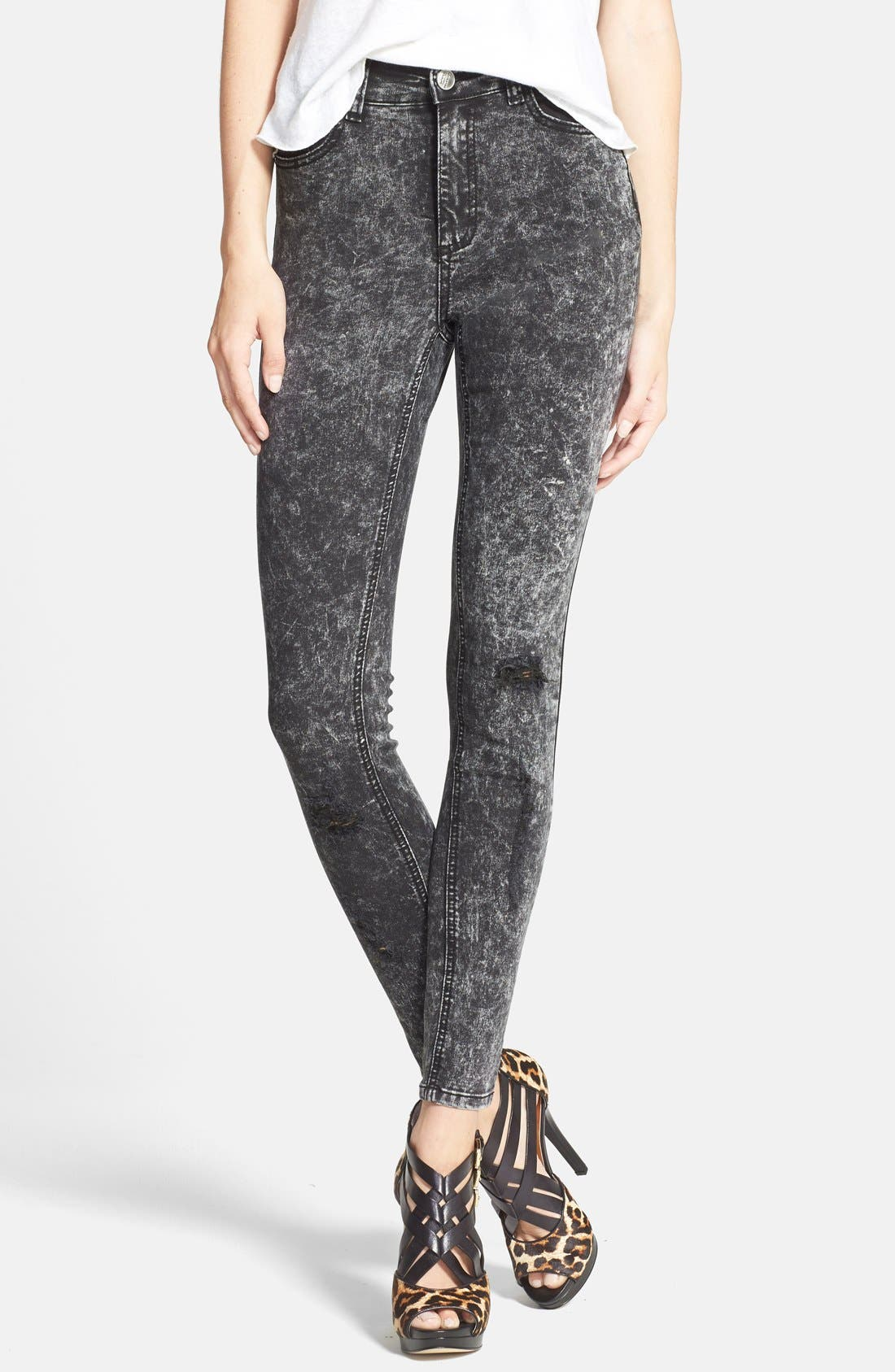 Main Image - Glamorous Distressed Skinny Pants