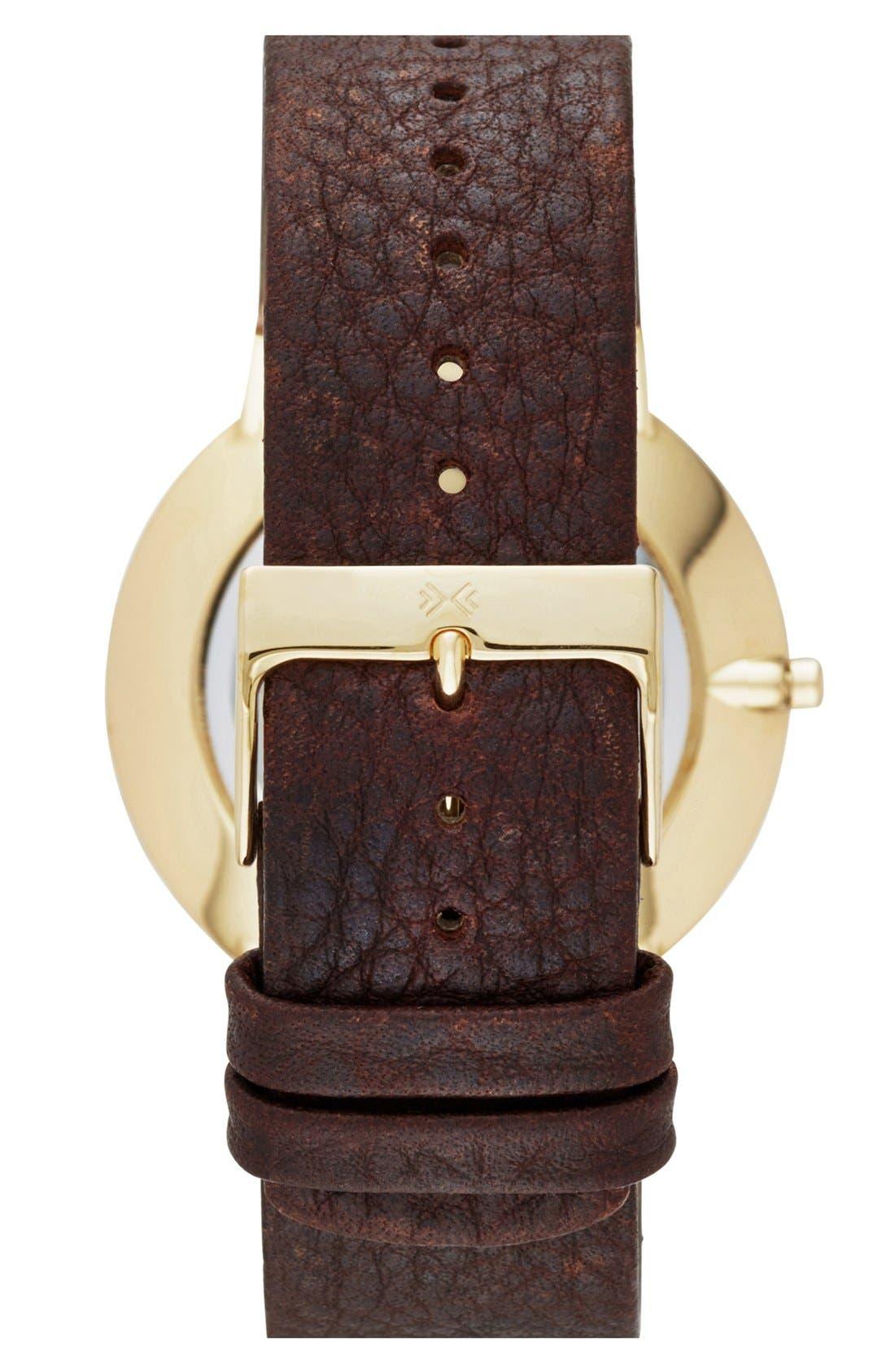 Alternate Image 2  - Skagen 'Ancher' Leather Strap Watch, 40mm