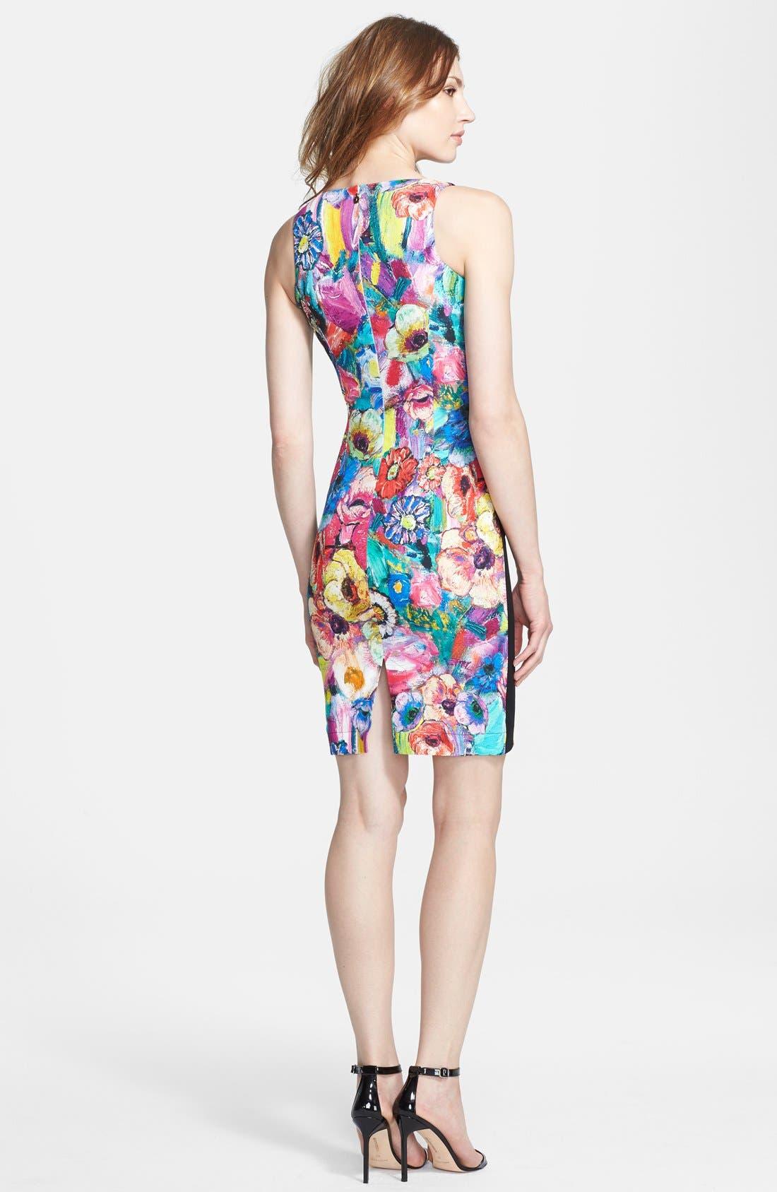 Alternate Image 2  - Just Cavalli Floral Print Sheath Dress