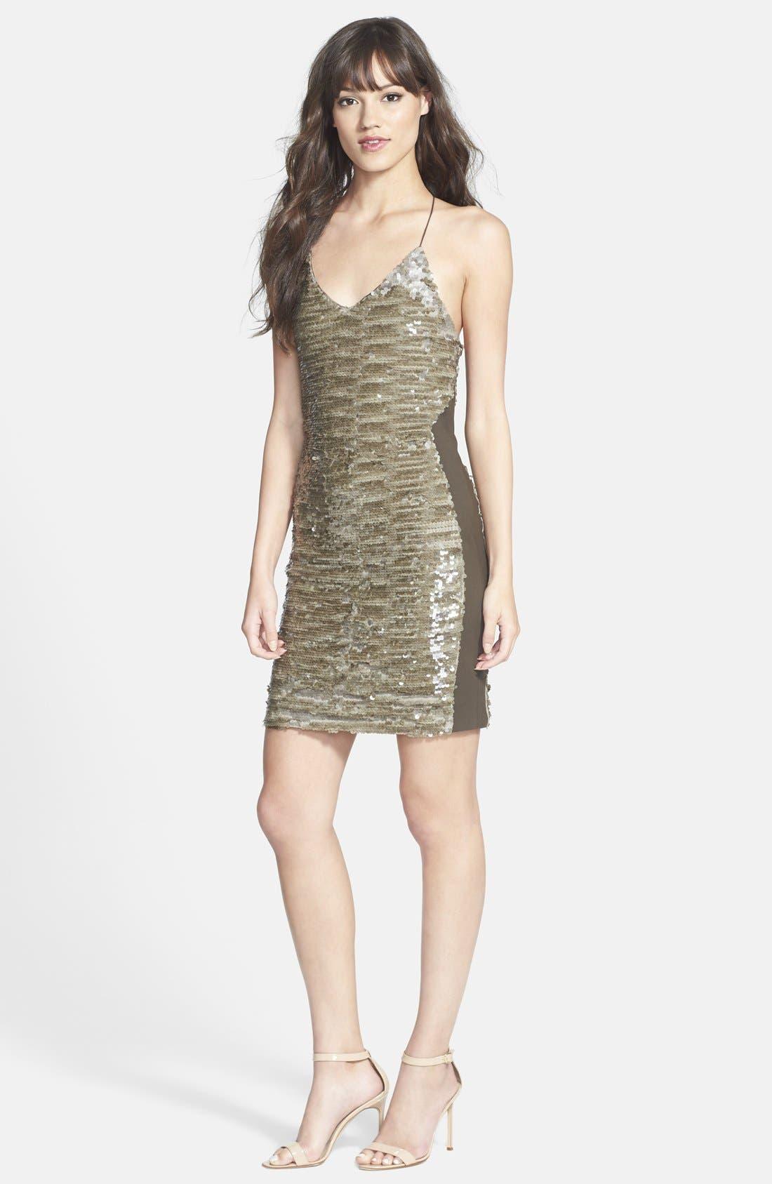 Alternate Image 3  - GREYLIN 'Alaia' Sequin Racerback Body-Con Dress