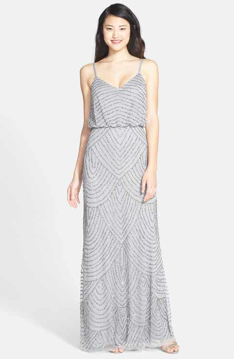 Adrianna Papell Embellished Blouson Gown (Regular   Petite)