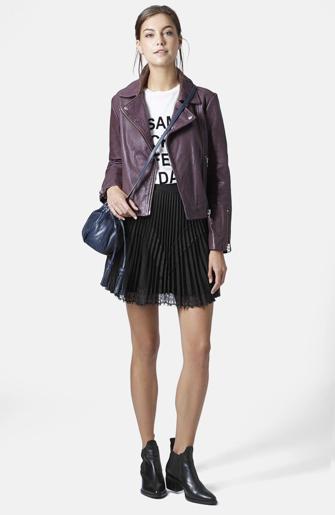 Alternate Image 5  - Topshop Pleat Eyelash Skirt