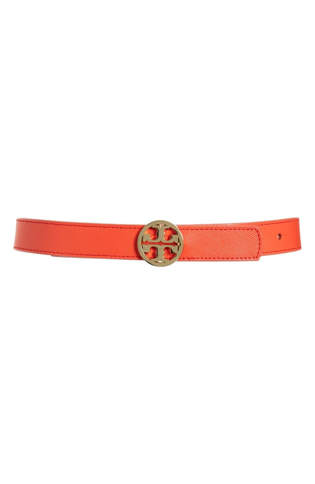 Alternate Image 1 Selected - Tory Burch 'Classic' Logo Reversible Saffiano Leather Belt