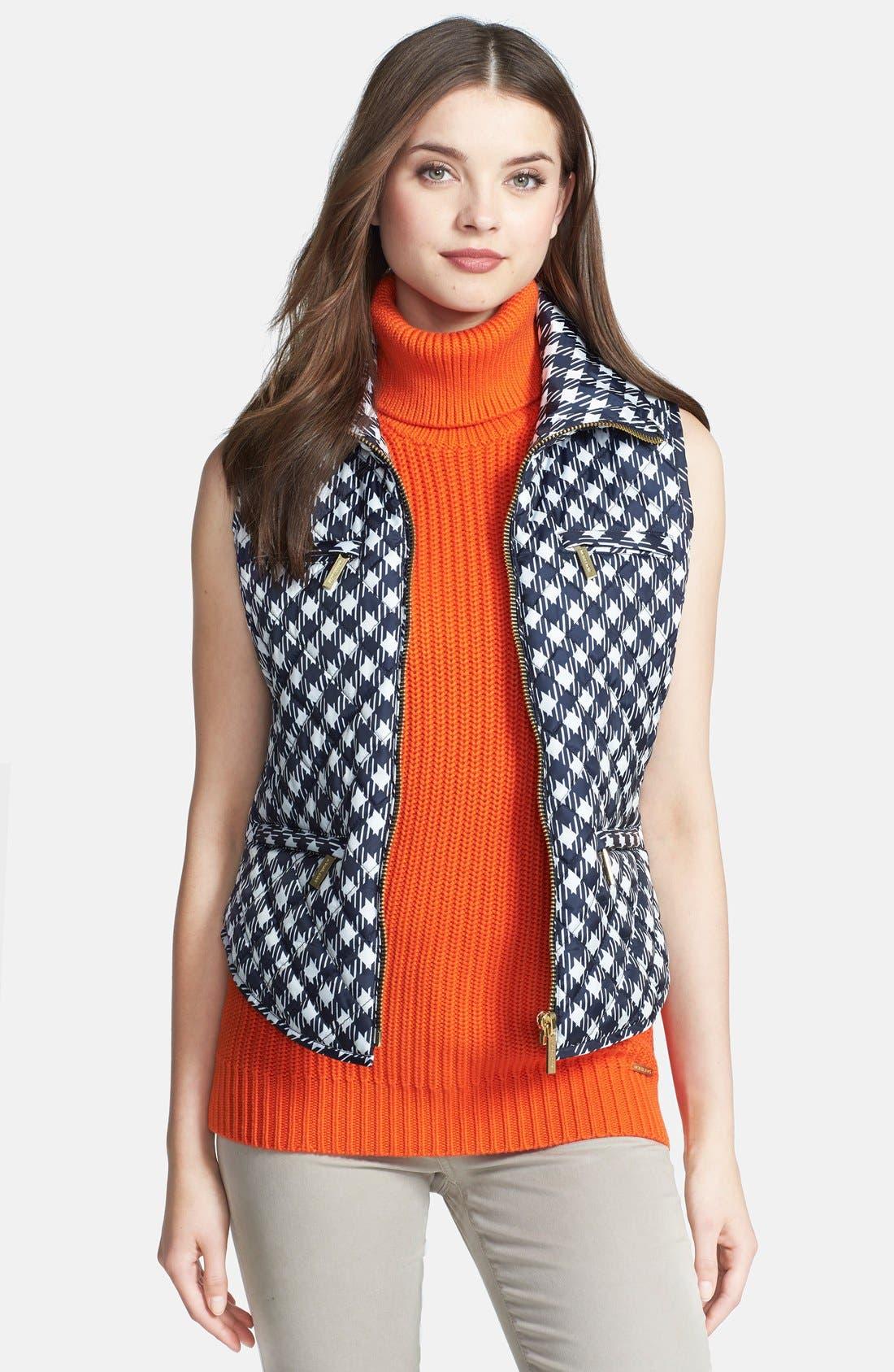 Alternate Image 1 Selected - MICHAEL Michael Kors Print Puffer Vest (Regular & Petite)
