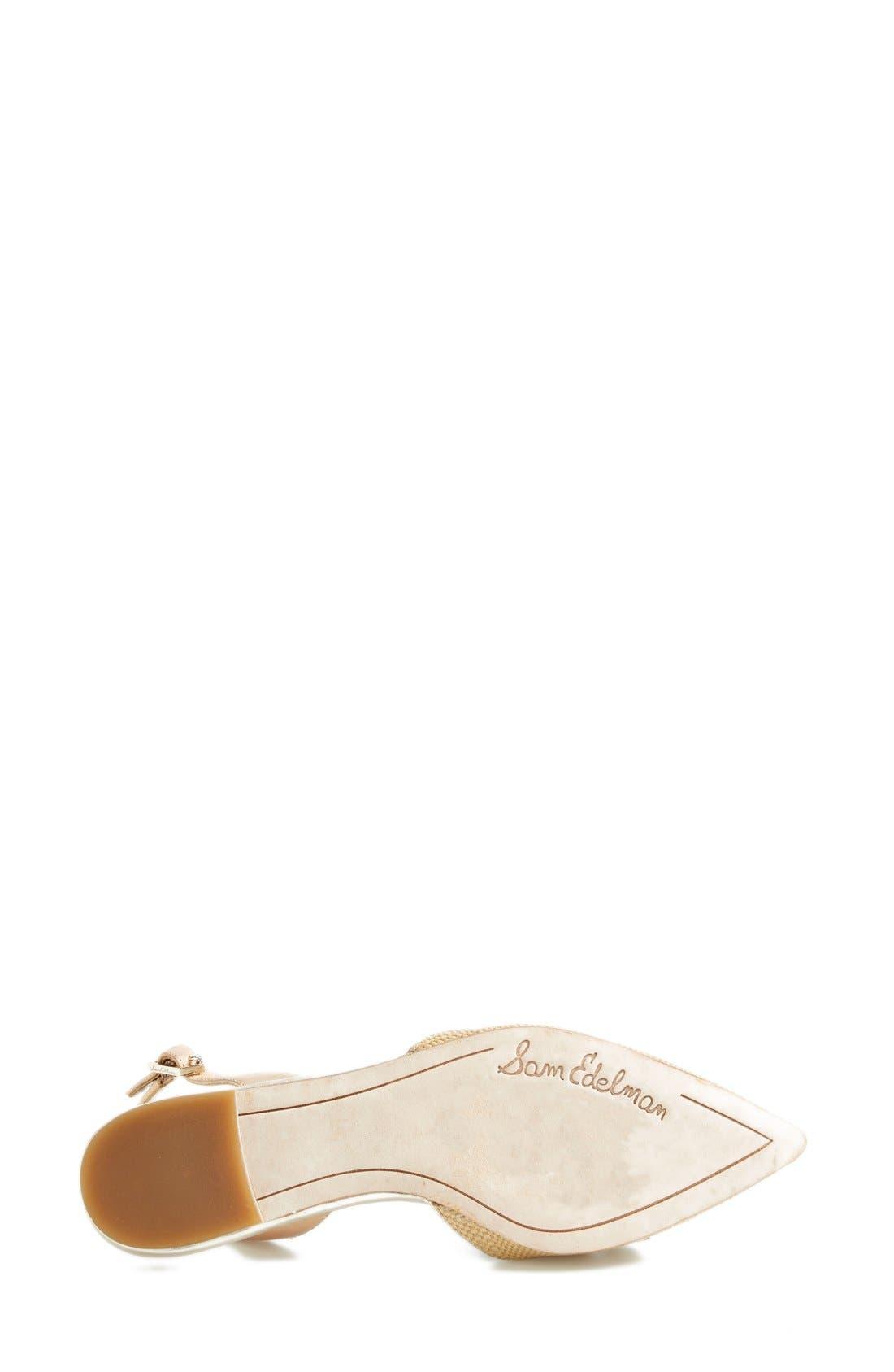 Alternate Image 4  - Sam Edelman 'Reece' Slingback Pointy Toe Flat (Women)