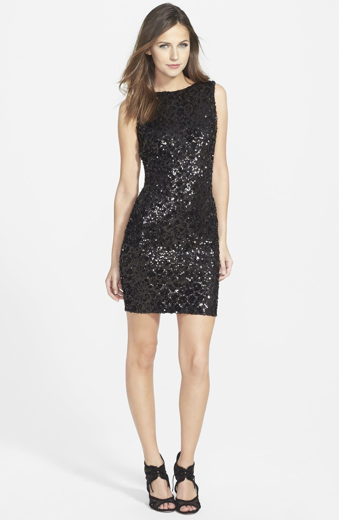 Alternate Image 3  - Dress the Population 'Kim' Sequin Body-Con Dress