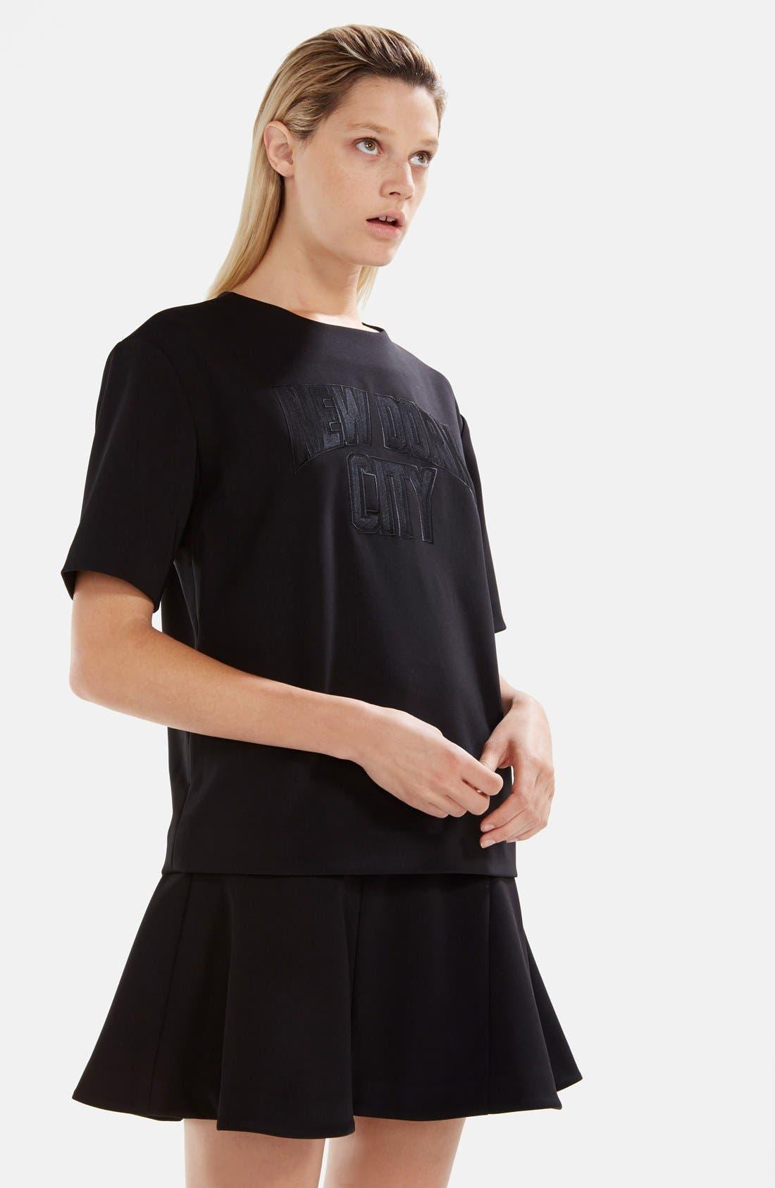 Alternate Image 3  - izzue Bonded T-Shirt Dress (Women)