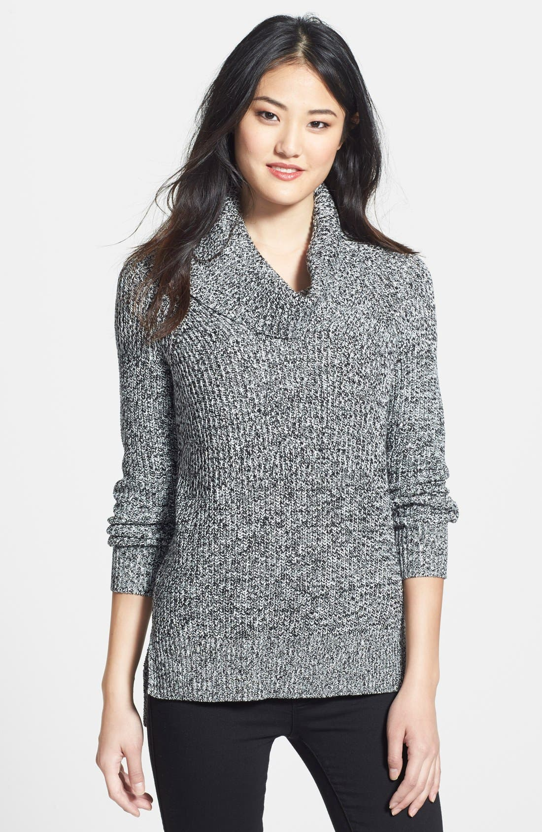 Alternate Image 1 Selected - Chaus Cowl Neck Ribbed Sweater