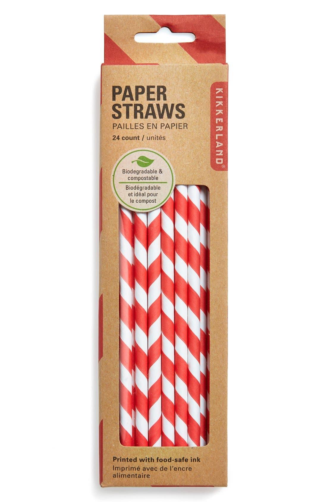 Alternate Image 1 Selected - Kikkerland Design Paper Straws (24-Pack)