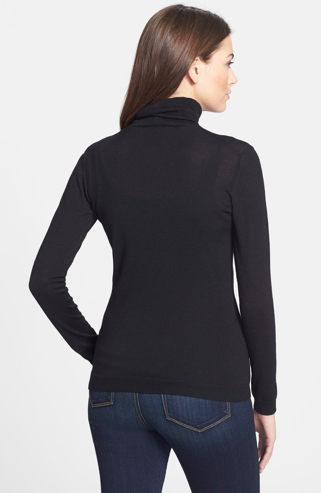 Alternate Image 2  - Lafayette 148 New York Fine Gauge Turtleneck