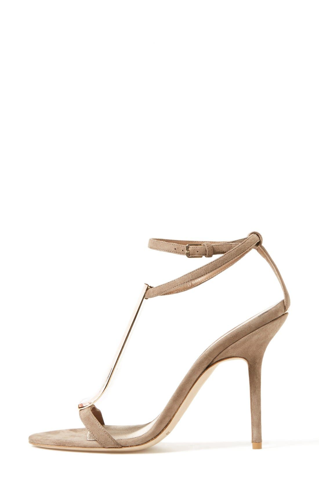 Alternate Image 4  - Burberry 'Irving' Perspex® T-Bar Sandal (Women)