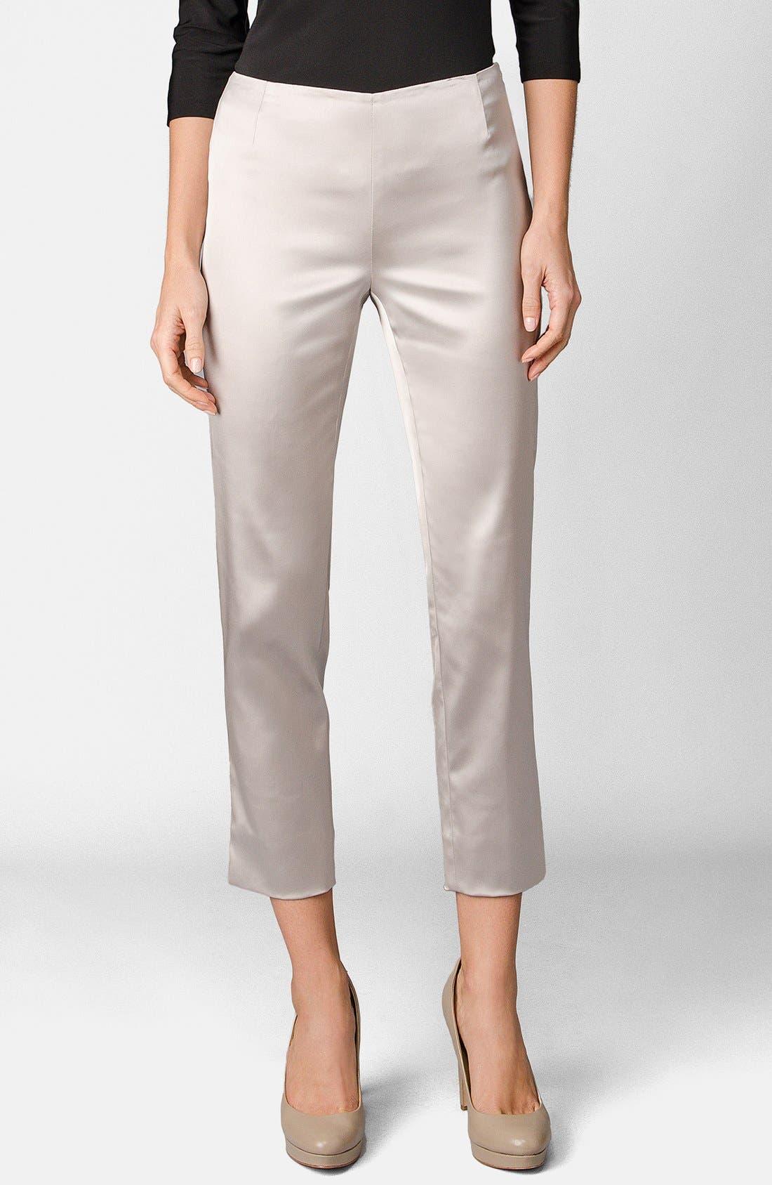 Alternate Image 1 Selected - Lafayette 148 New York 'Stanton - Belle Satin' Pants