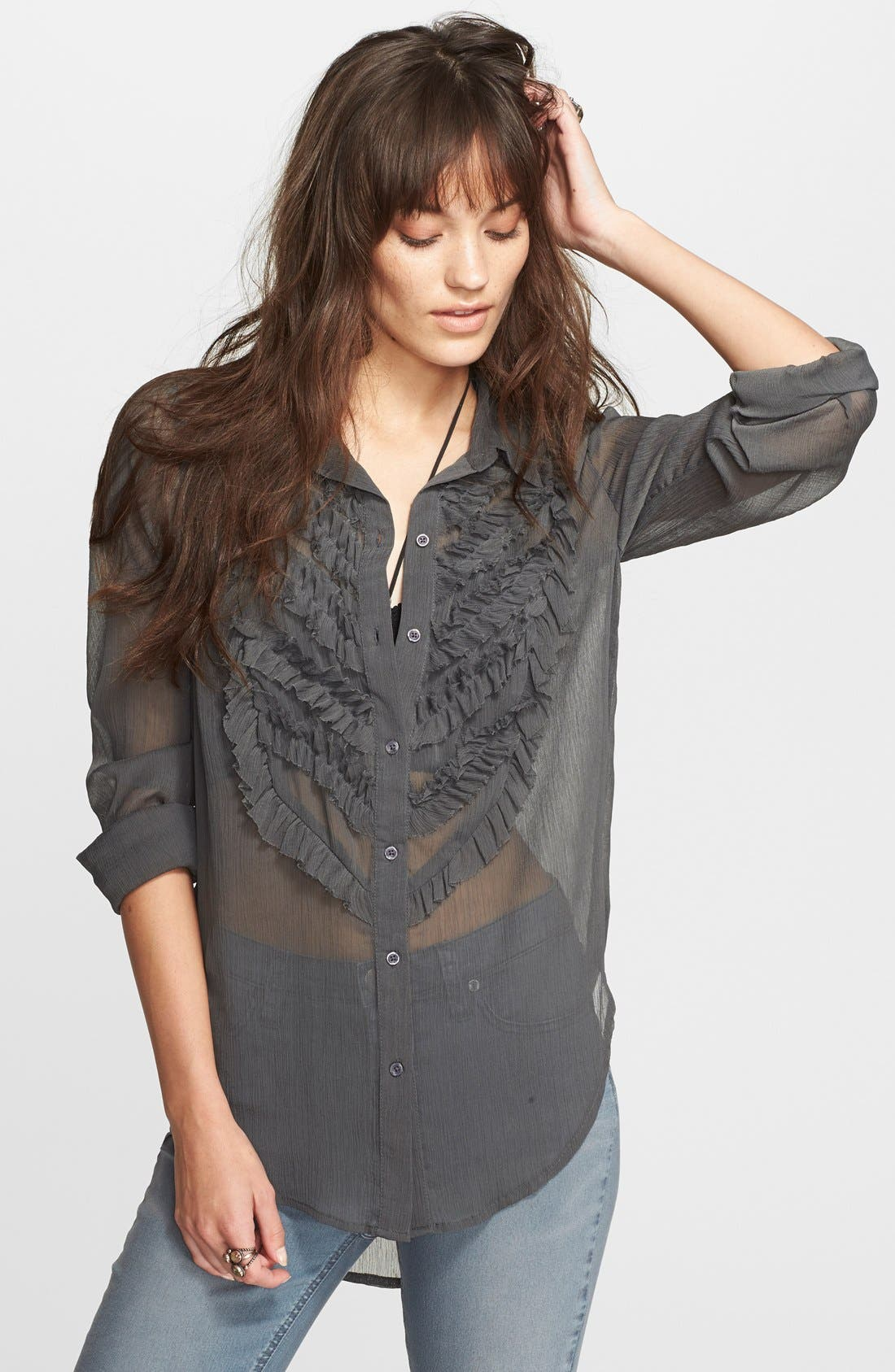 Alternate Image 1 Selected - Free People Solid Tux Top