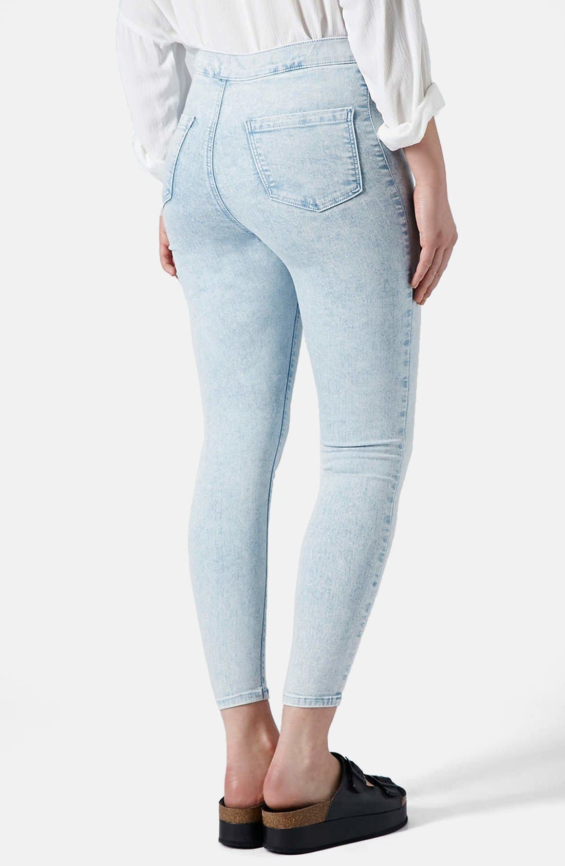 Alternate Image 2  - Topshop 'Joni' Mottled Ultra Skinny Jeans (Bleach Stone)