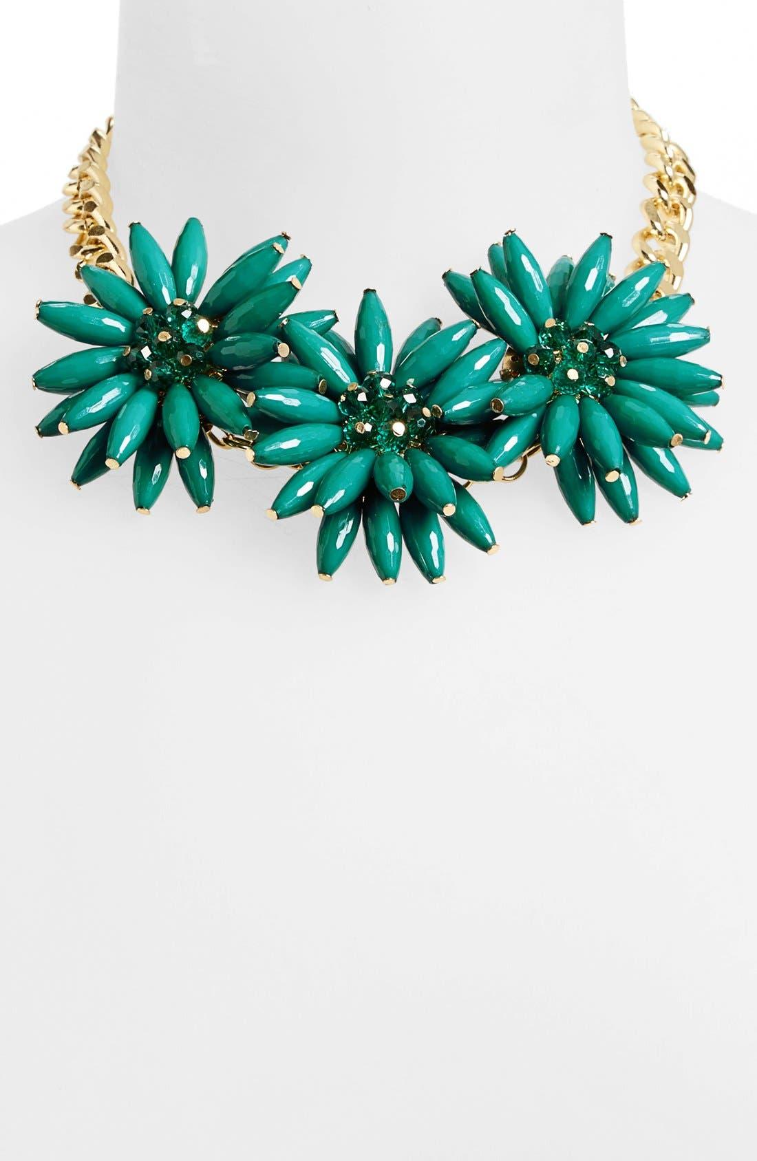 Alternate Image 1 Selected - Topshop Spike Flower Necklace