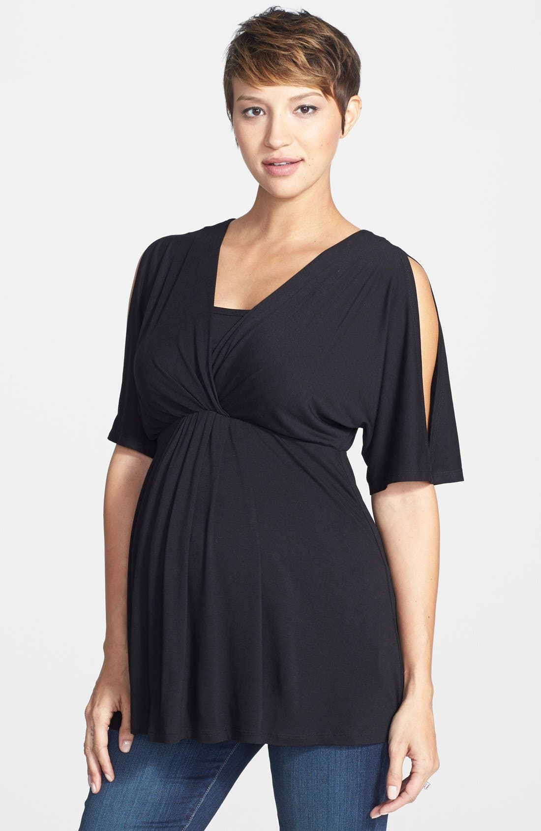 Discover our chic collection of nursing clothes at A Pea in the Pod. Find a variety of tops and dresses to match your unique style. A Pea in the Pod Maternity.