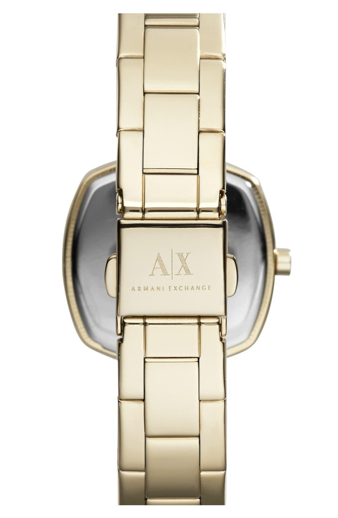 Alternate Image 2  - AX Armani Exchange Square Bracelet Watch, 30mm