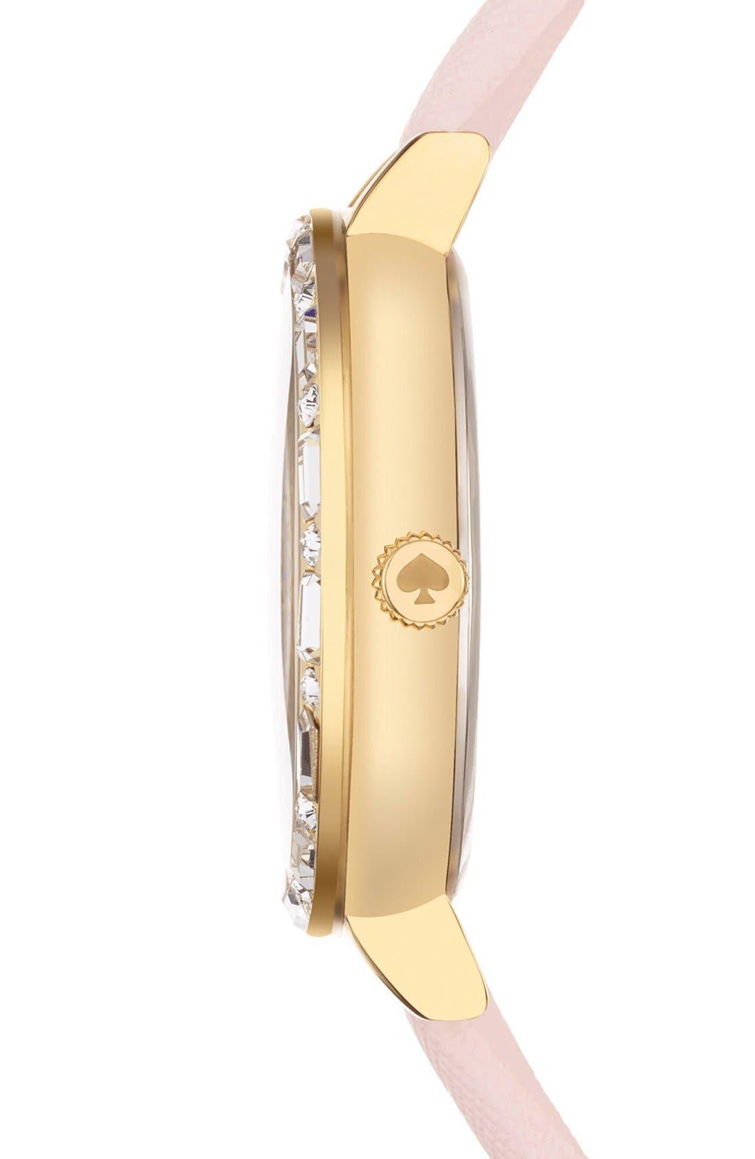 Alternate Image 2  - kate spade new york 'metro' crystal bezel heart dial watch, 34mm