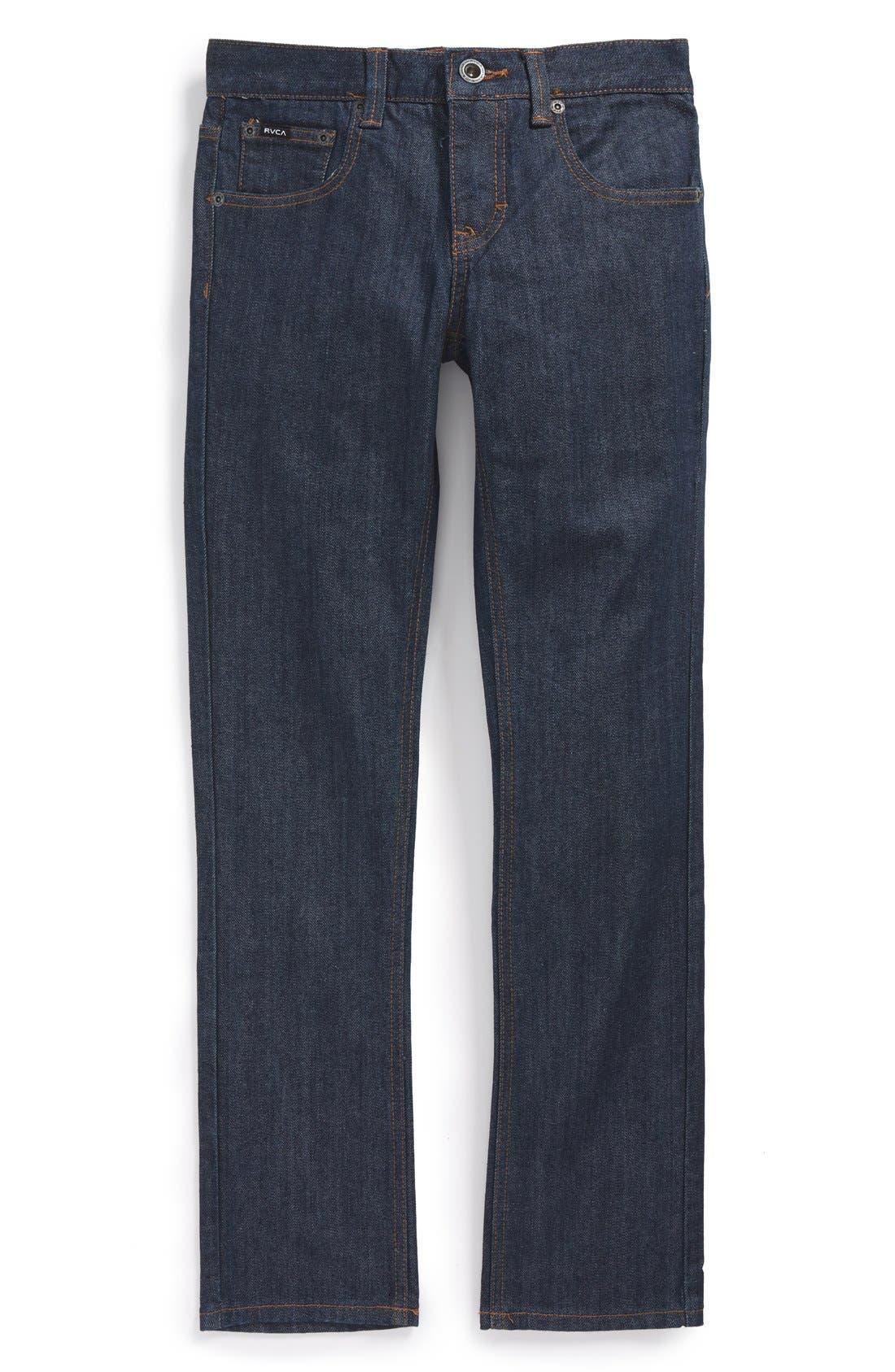 Alternate Image 2  - RVCA 'Regulars Extra' Straight Leg Jeans (Big Boys)