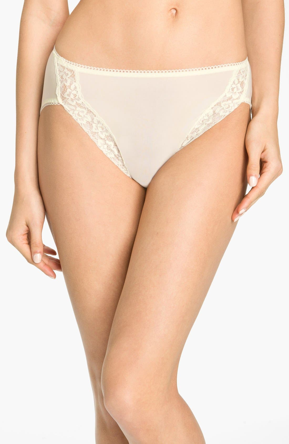 Wacoal 'Bodysuede' Lace Trim High Cut Briefs (3 for $45)