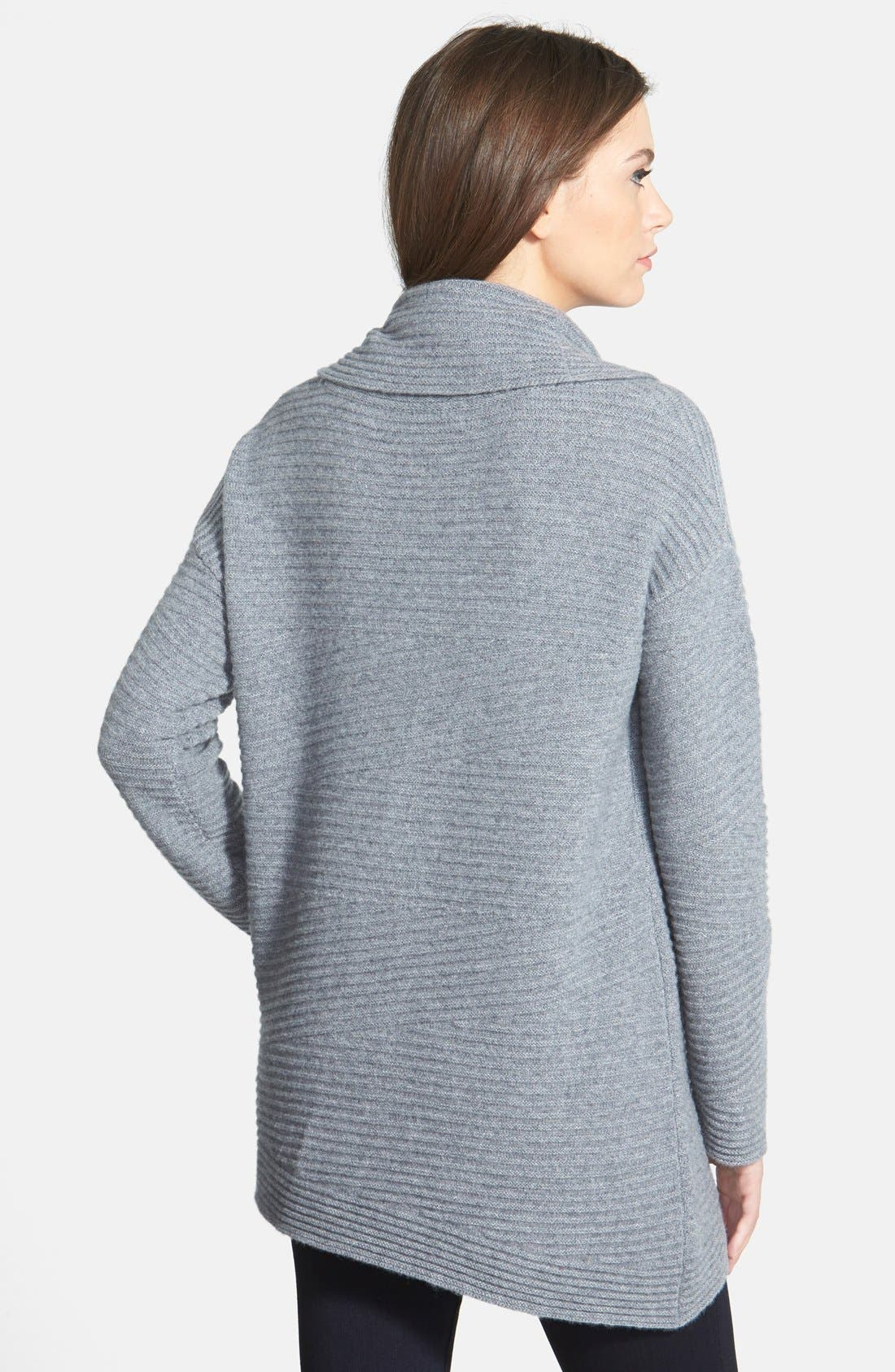 Alternate Image 2  - Nordstrom Collection Zigzag Ribbed Cowl Neck Cashmere Sweater