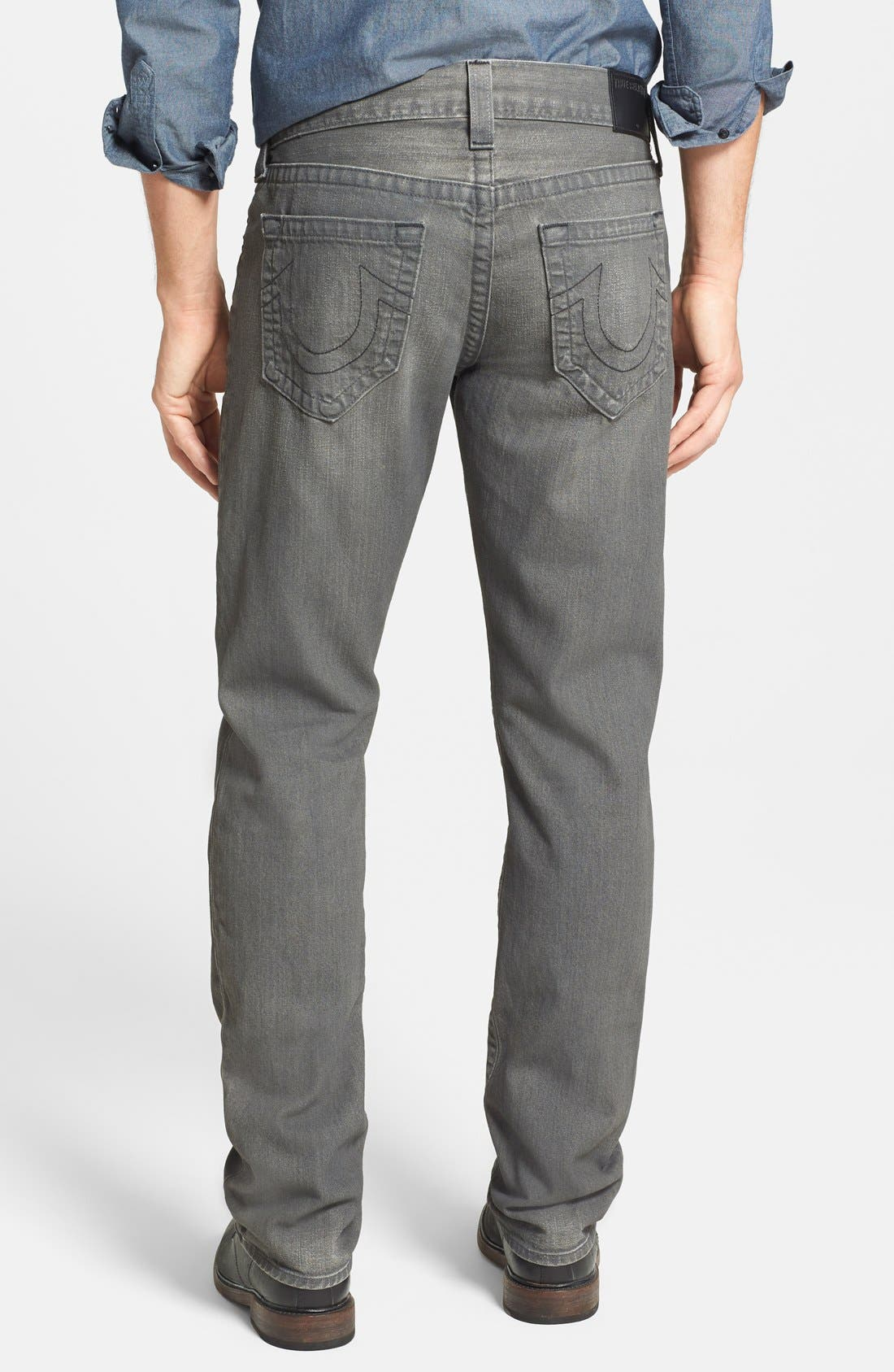 Alternate Image 2  - True Religion Brand Jeans 'Geno' Straight Leg Jeans (Concrete Hill)