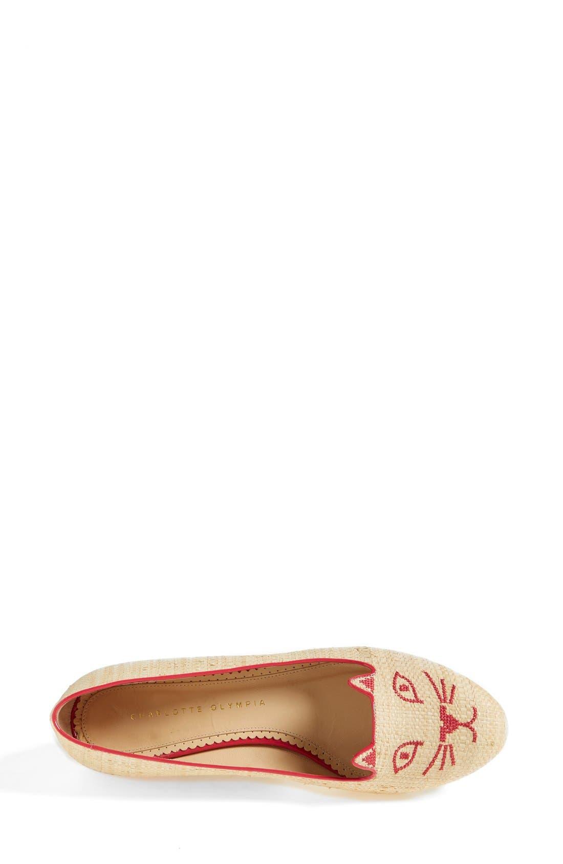 Alternate Image 3  - Charlotte Olympia 'Kitty' Flat (Women)