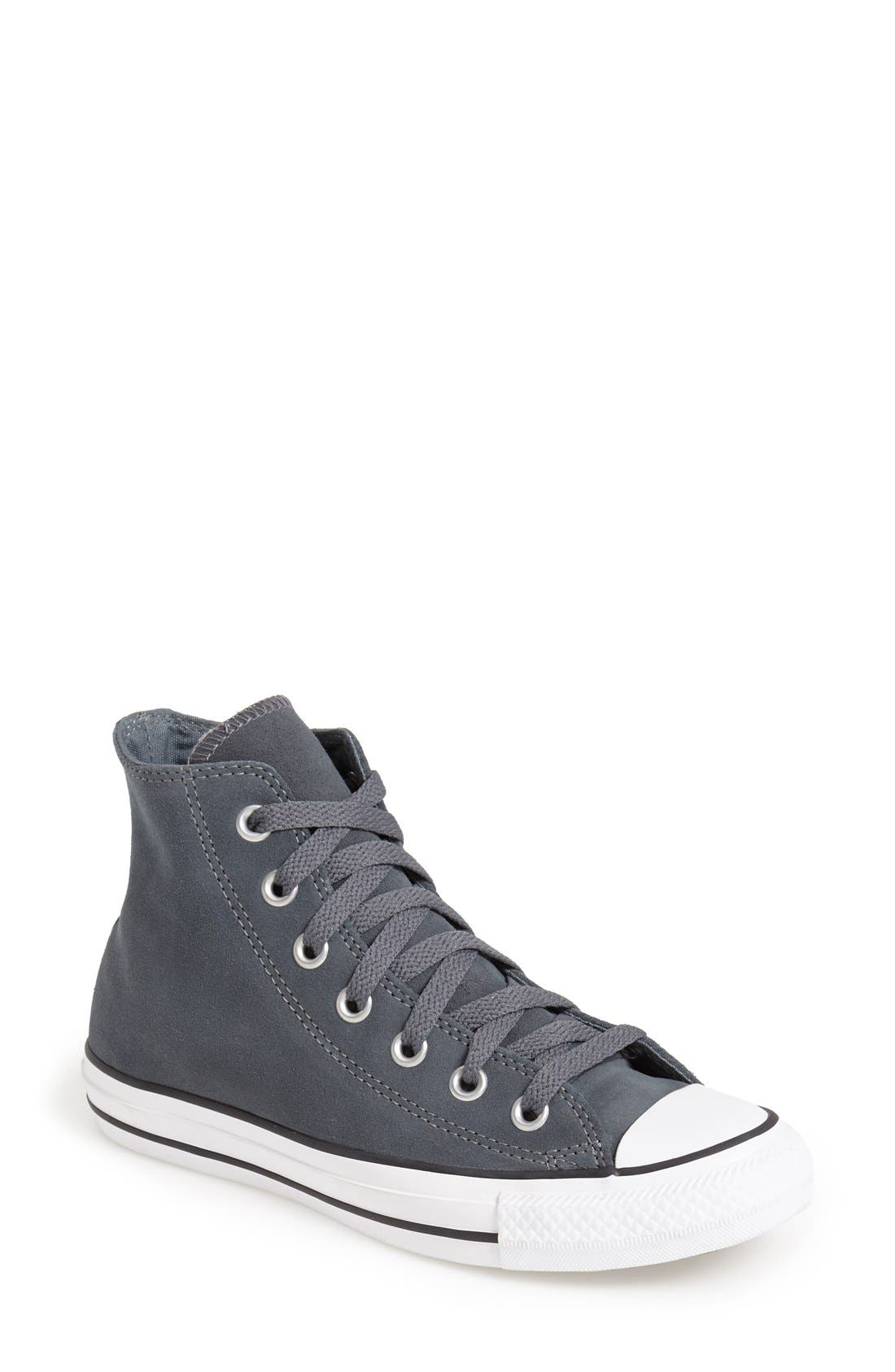 Main Image - Converse Chuck Taylor® All Star® Suede High Top Sneaker (Women)