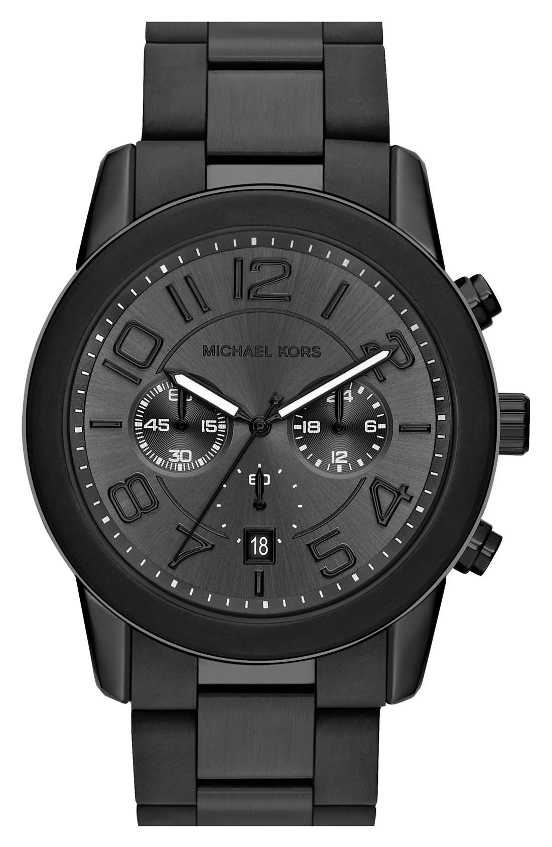Alternate Image 1 Selected - Michael Kors 'Mercer' Chronograph Bracelet Watch, 45mm