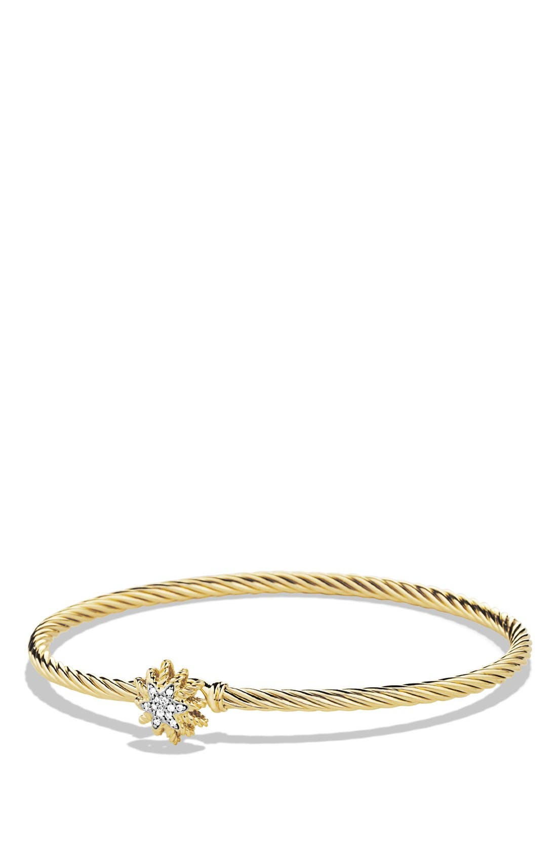 Alternate Image 1 Selected - David Yurman 'Starburst' Single-Station Cable Bracelet with Diamonds in Gold