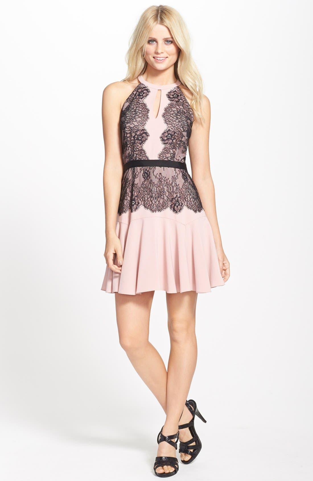 Alternate Image 3  - BCBGMAXAZRIA 'Leyla' Fit & Flare Halter Dress